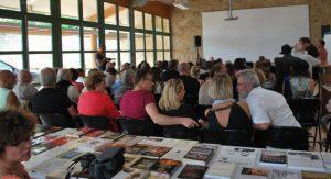 Photo d'ambiance de la conférence d'André Galaup, août 2015 (Organisation de TDR)