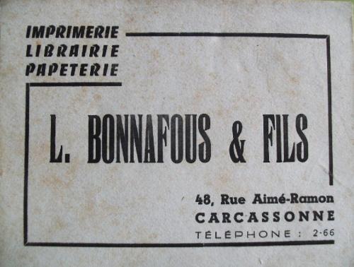 Bonnafous carte de visite